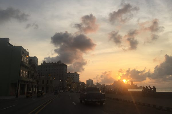 sunset Malecon